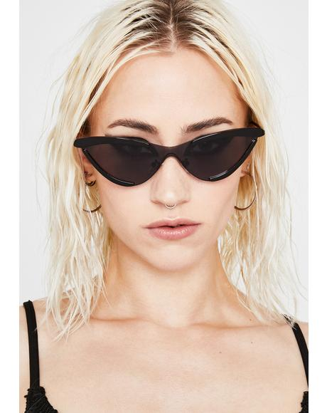 Dark Solar Flair Cat Eye Sunglasses