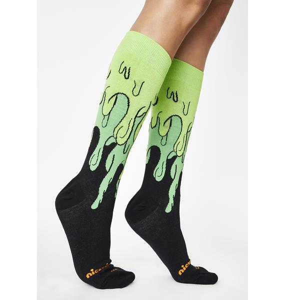 Cool Socks Nick Slime Time Crew Socks
