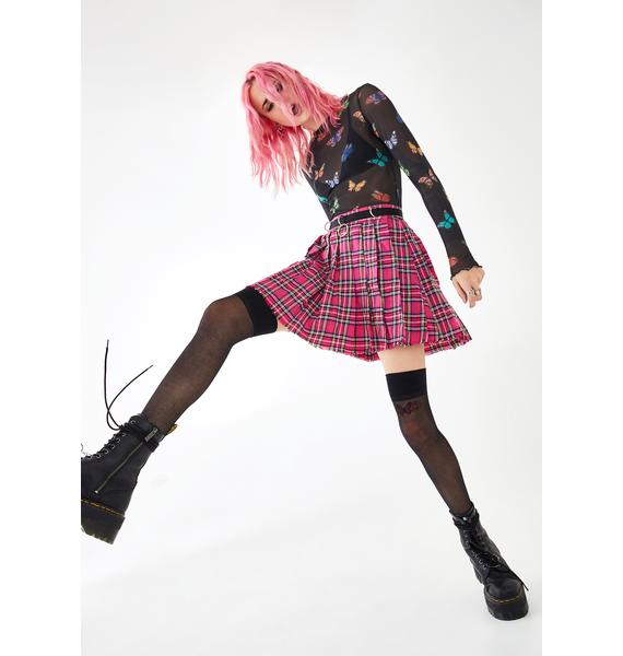 Current Mood Sweet Dress Code Plaid Skirt