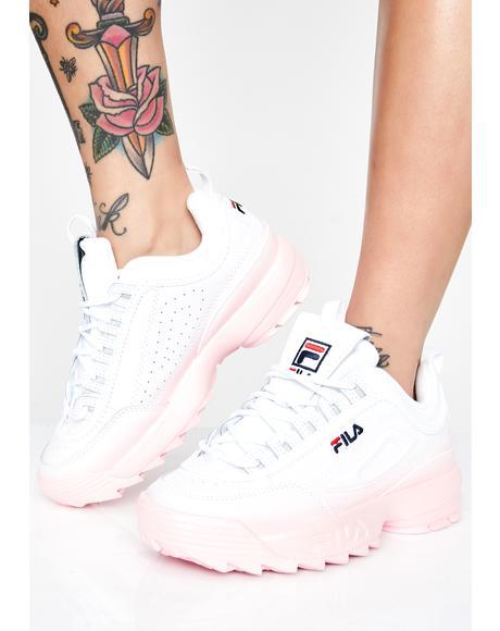 Blush Disruptor II Premium Fade Sneakers