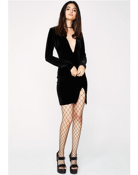 Snatched Velvet Dress