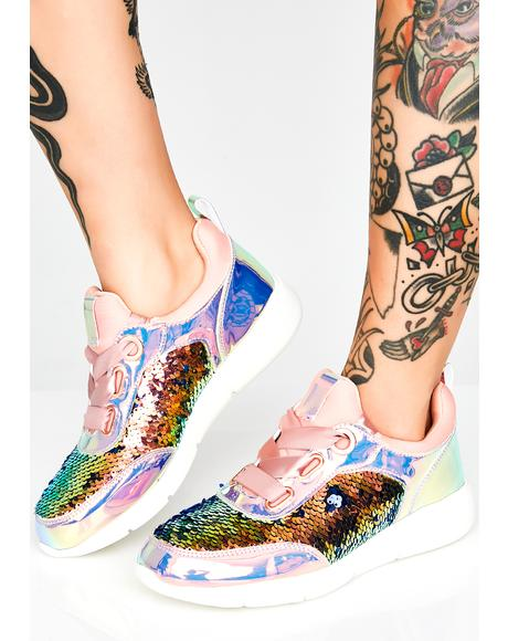 Static Spark Sequin Sneakers