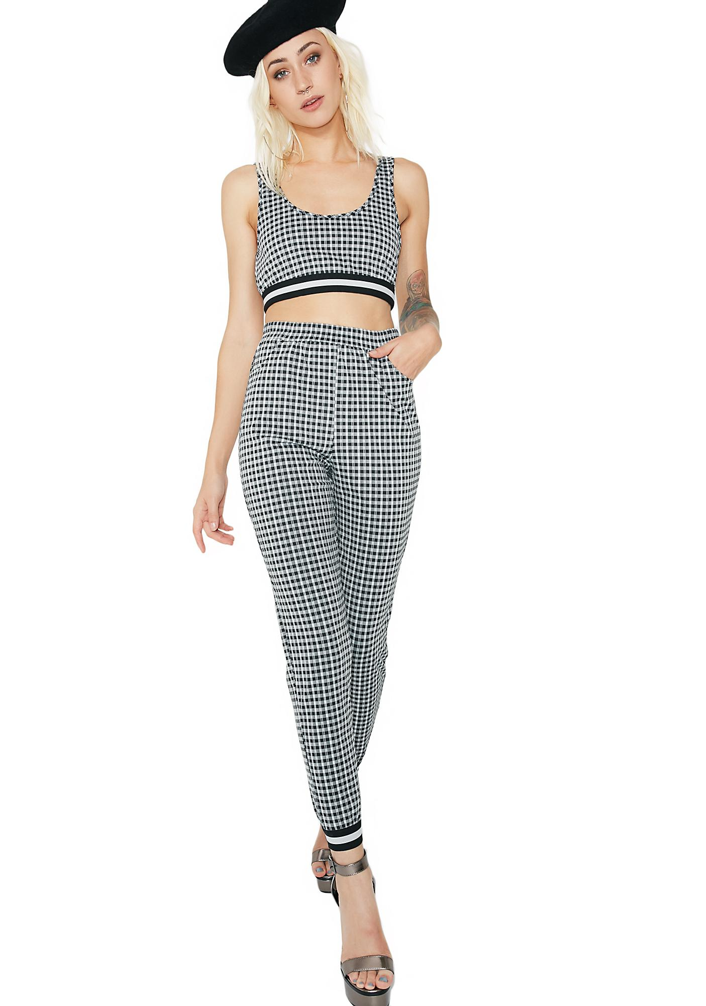 Check It Out Gingham Crop Top