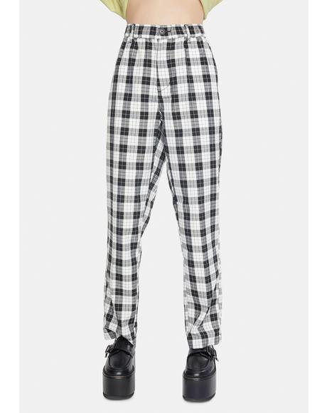 Newton Plaid Pants