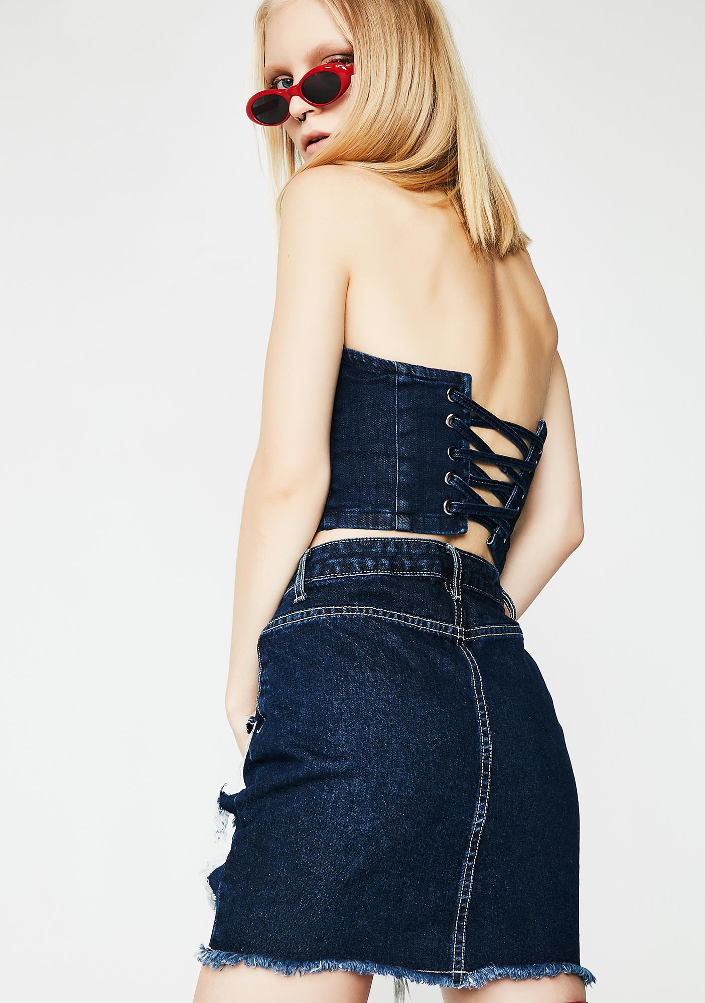 Disco Mess Mini Skirt