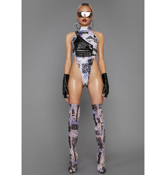 Poster Grl QR Cutie Mock Neck Bodysuit