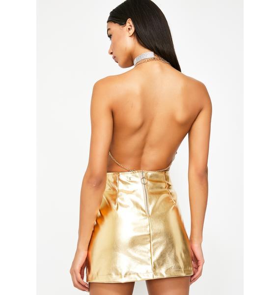 Kiki Riki Sass Society Metallic Skirt