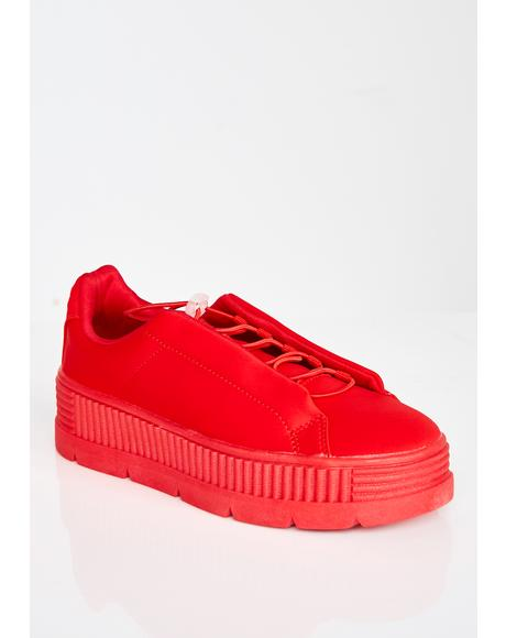 Cherry Anti-Gravity Platform Sneakers
