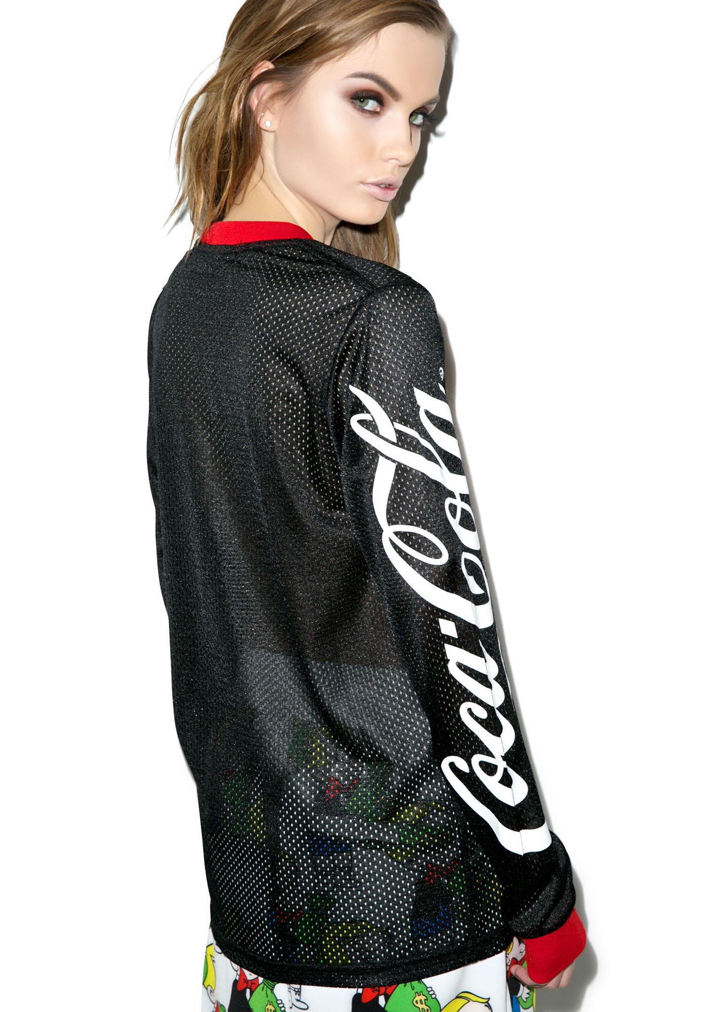 Joyrich Coco-Cola Mesh Long Sleeve Tee