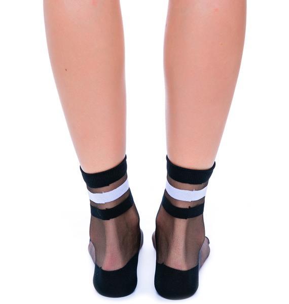 Not A Basic Babe See Thru Sock