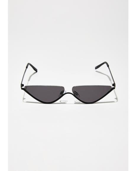 Chaos Theory Cat-Eye Sunglasses