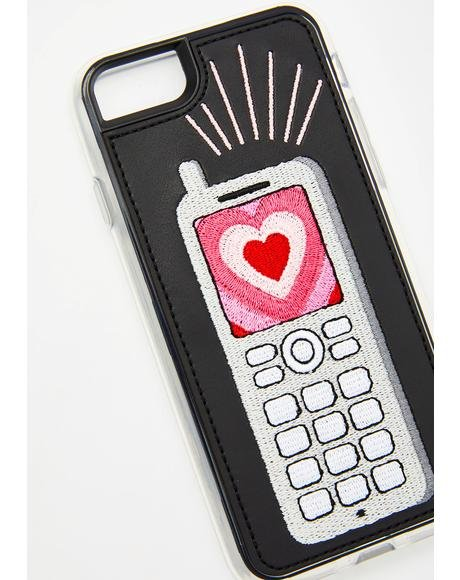 Feature Phone Embroidered iPhone Case