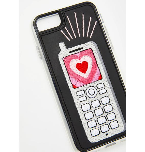 Zero Gravity Feature Phone Embroidered iPhone Case