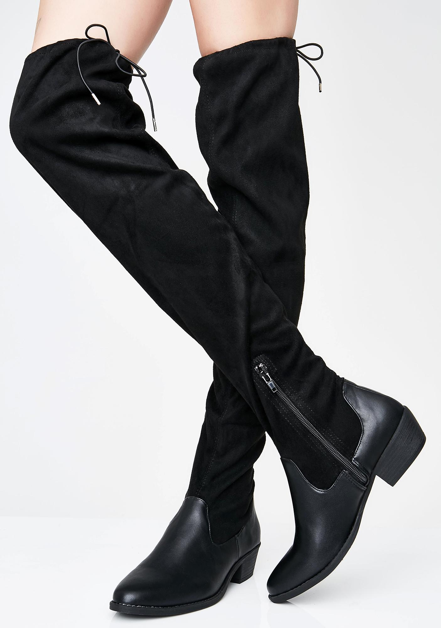 Bad Attitude Over The Knee Boots