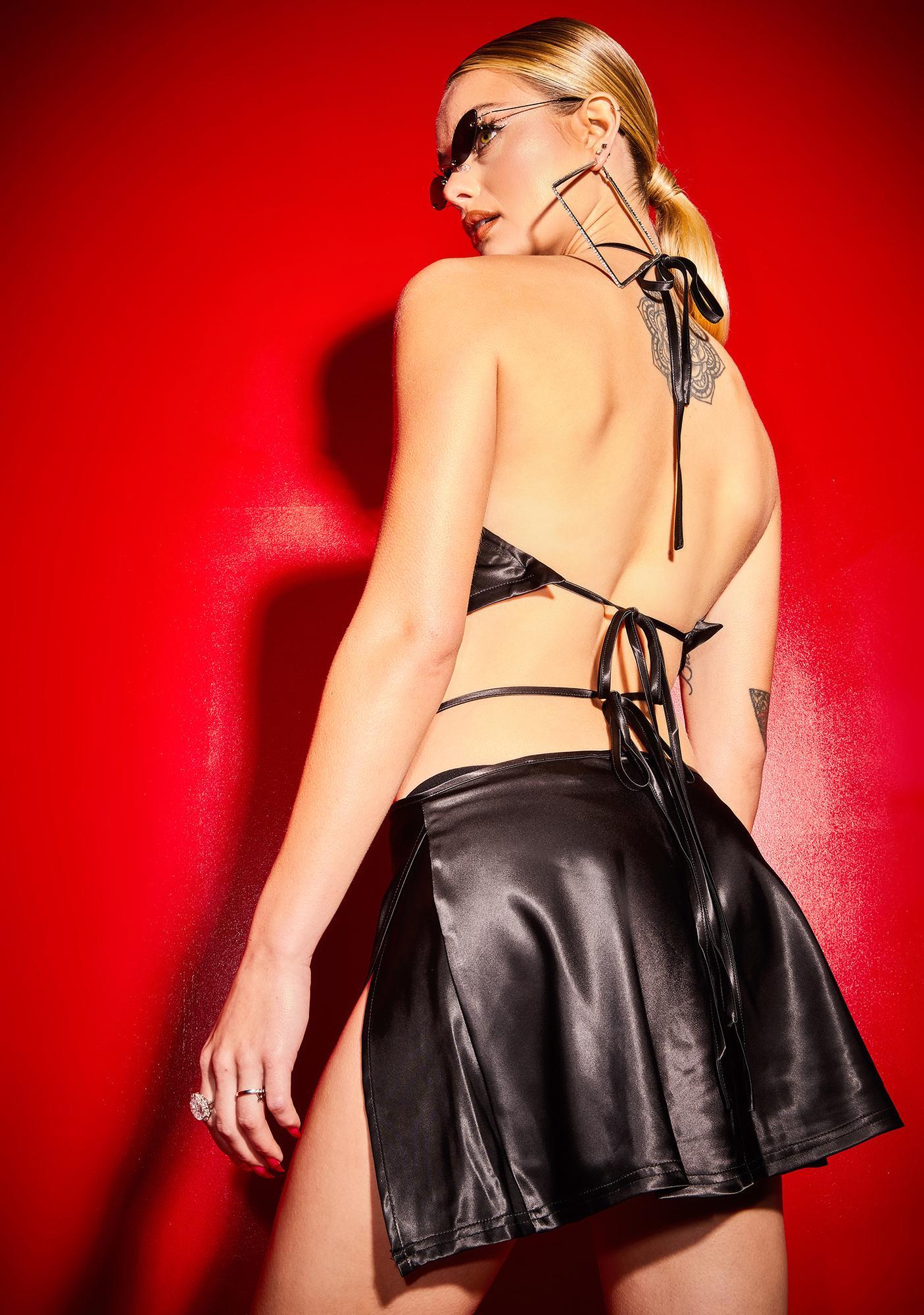 Poster Grl Wicked Hot Date Satin Skirt Set
