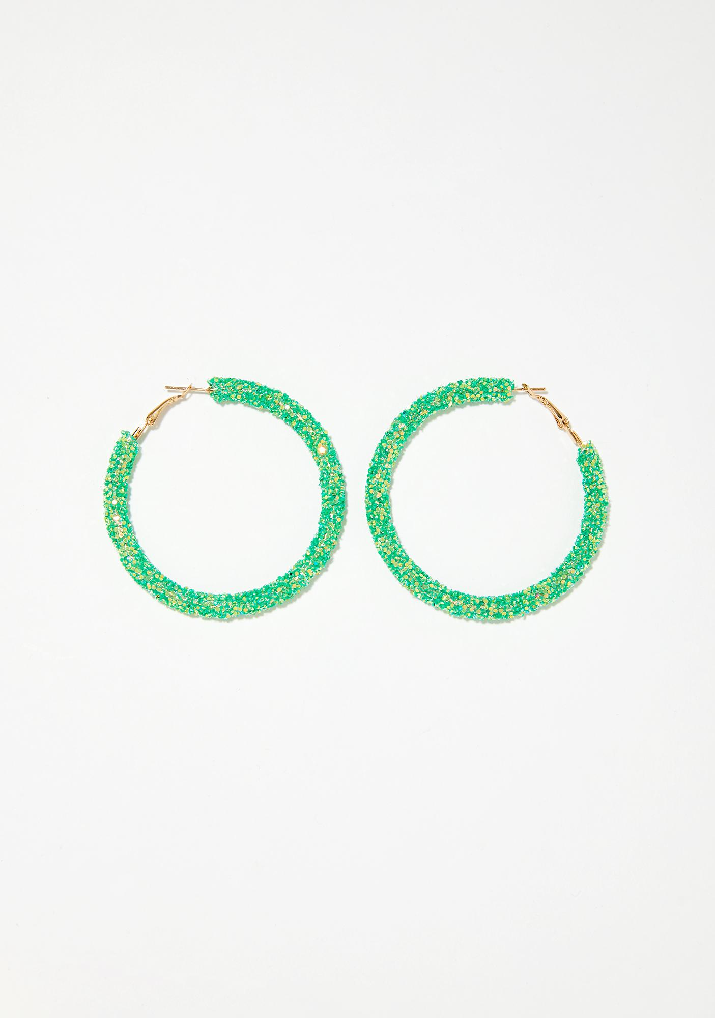 Dank Glitta Gal Hoop Earrings