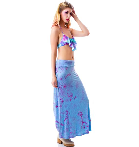 Lilith Fair Tie Dye Maxi Skirt