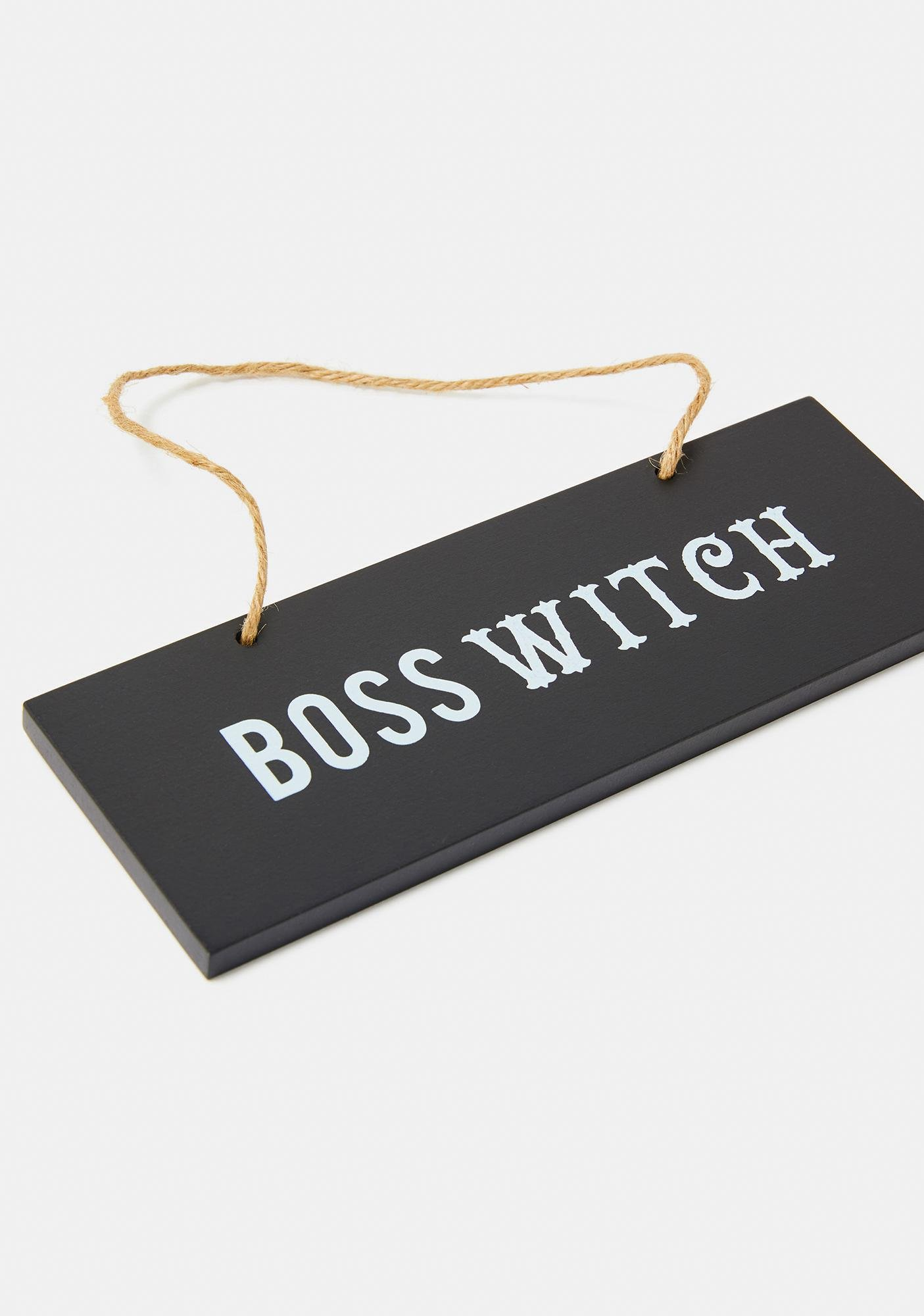 Boss Witch Hanging Wall Sign