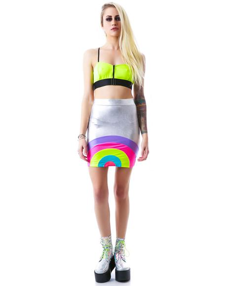 Araxia Foil Mini Skirt
