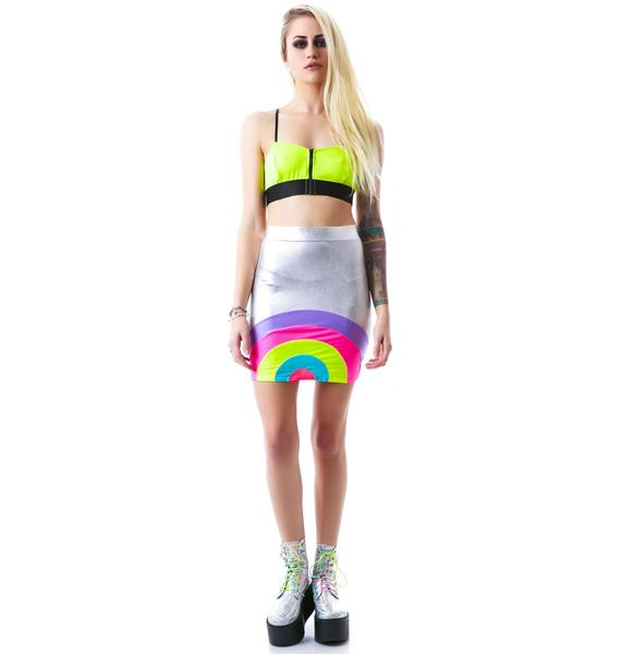 Obscure Couture Araxia Foil Mini Skirt