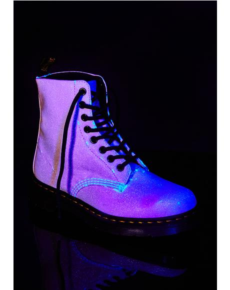 Pascal Glitter Aurora Purple Boots