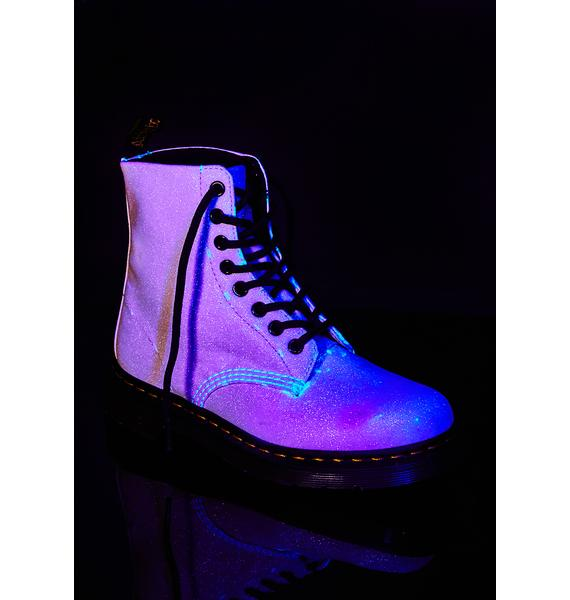 Dr. Martens Pascal Glitter Aurora Purple Boots