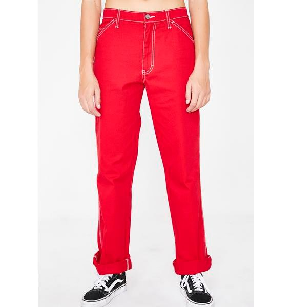Dickies Girl Flame Carpenter Pants