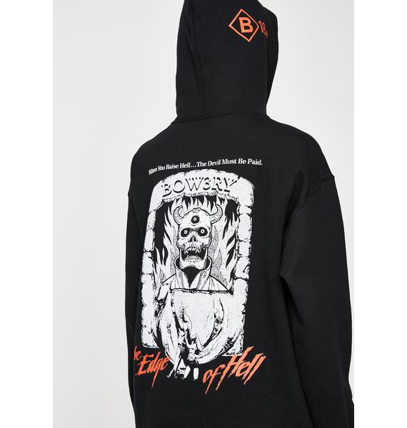 BOW3RY Edge Of Hell Graphic Hoodie