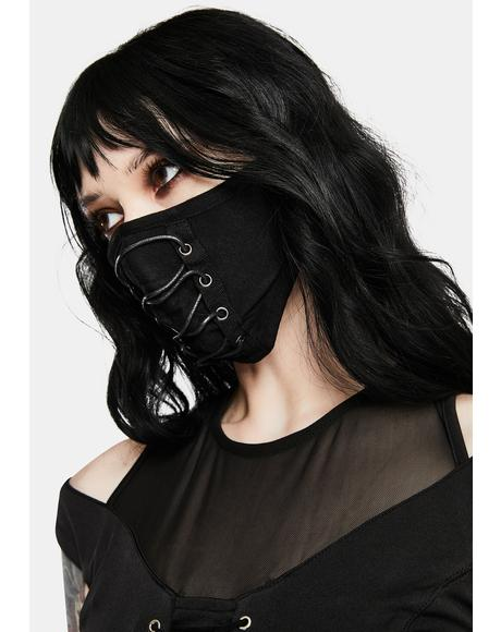 Daily Punk Lace-Up Face Mask
