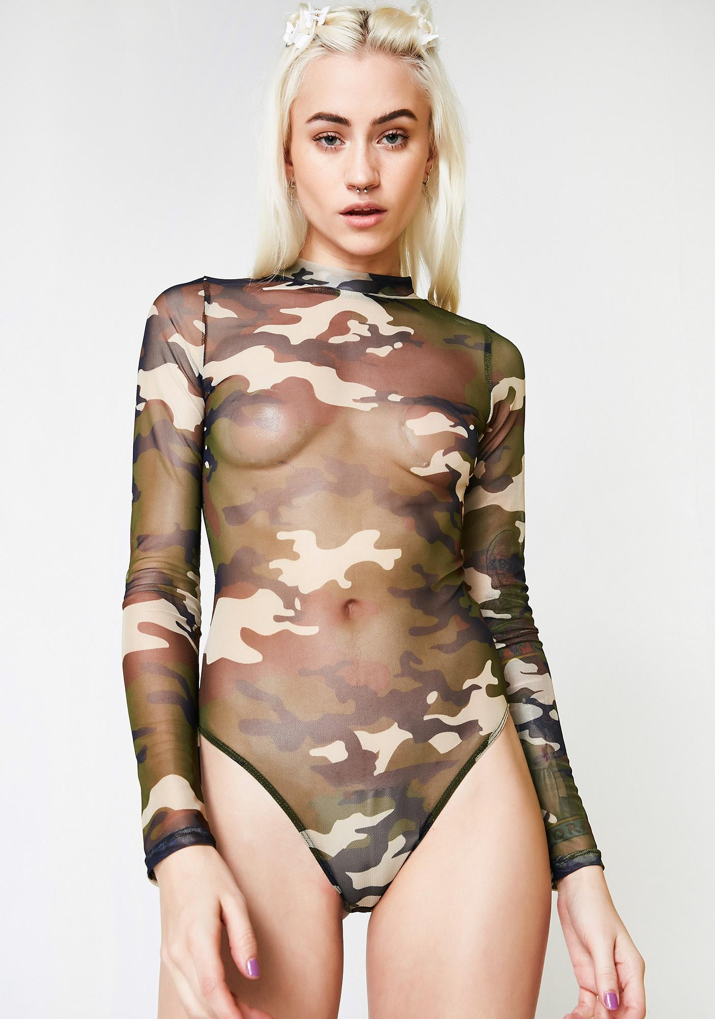 On The Attack Sheer Bodysuit