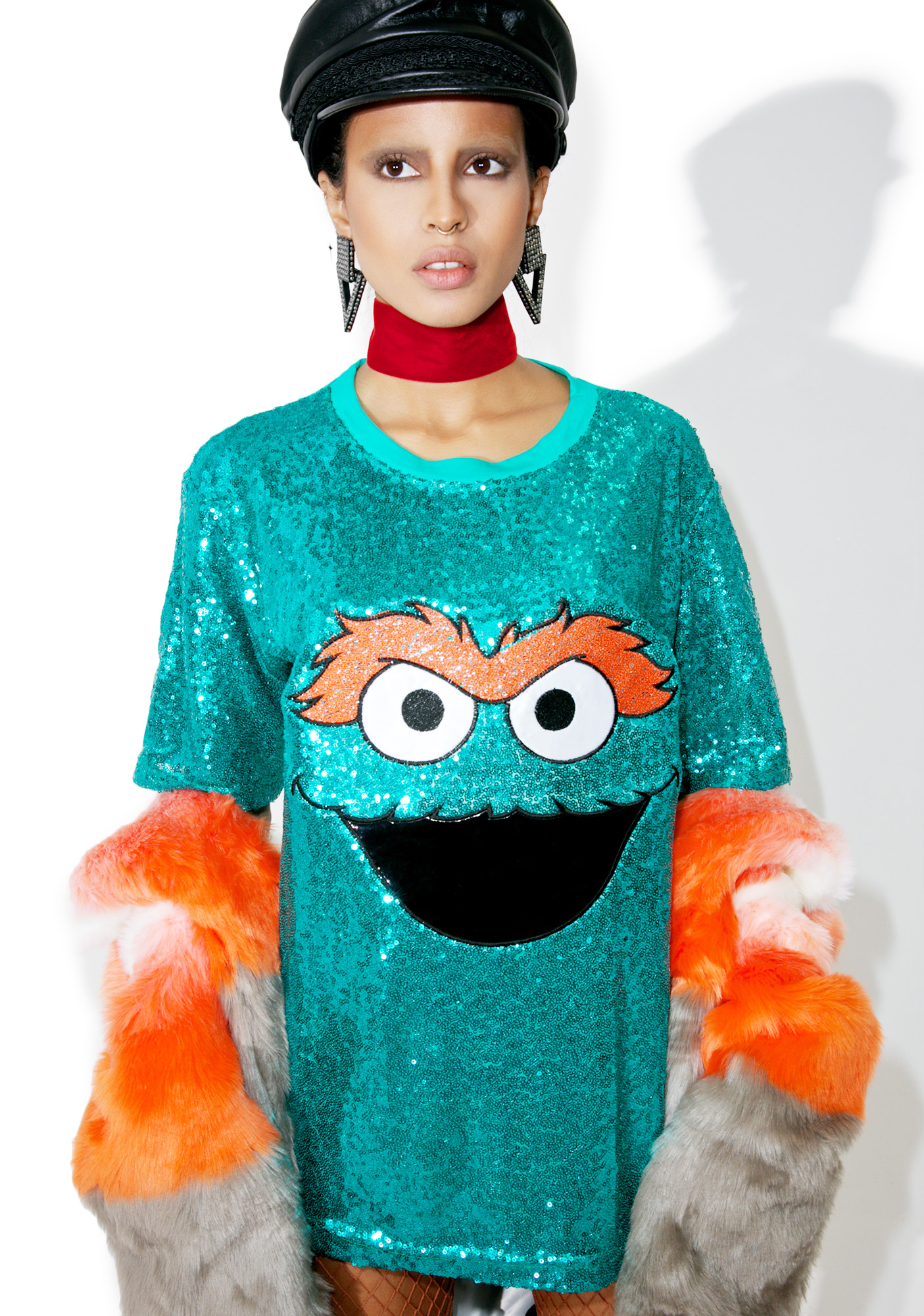 Oscar The Grouch Sequin Shirt