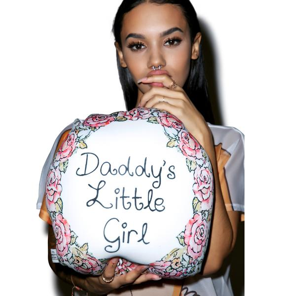 O Mighty Daddy's Little Girl Pillow