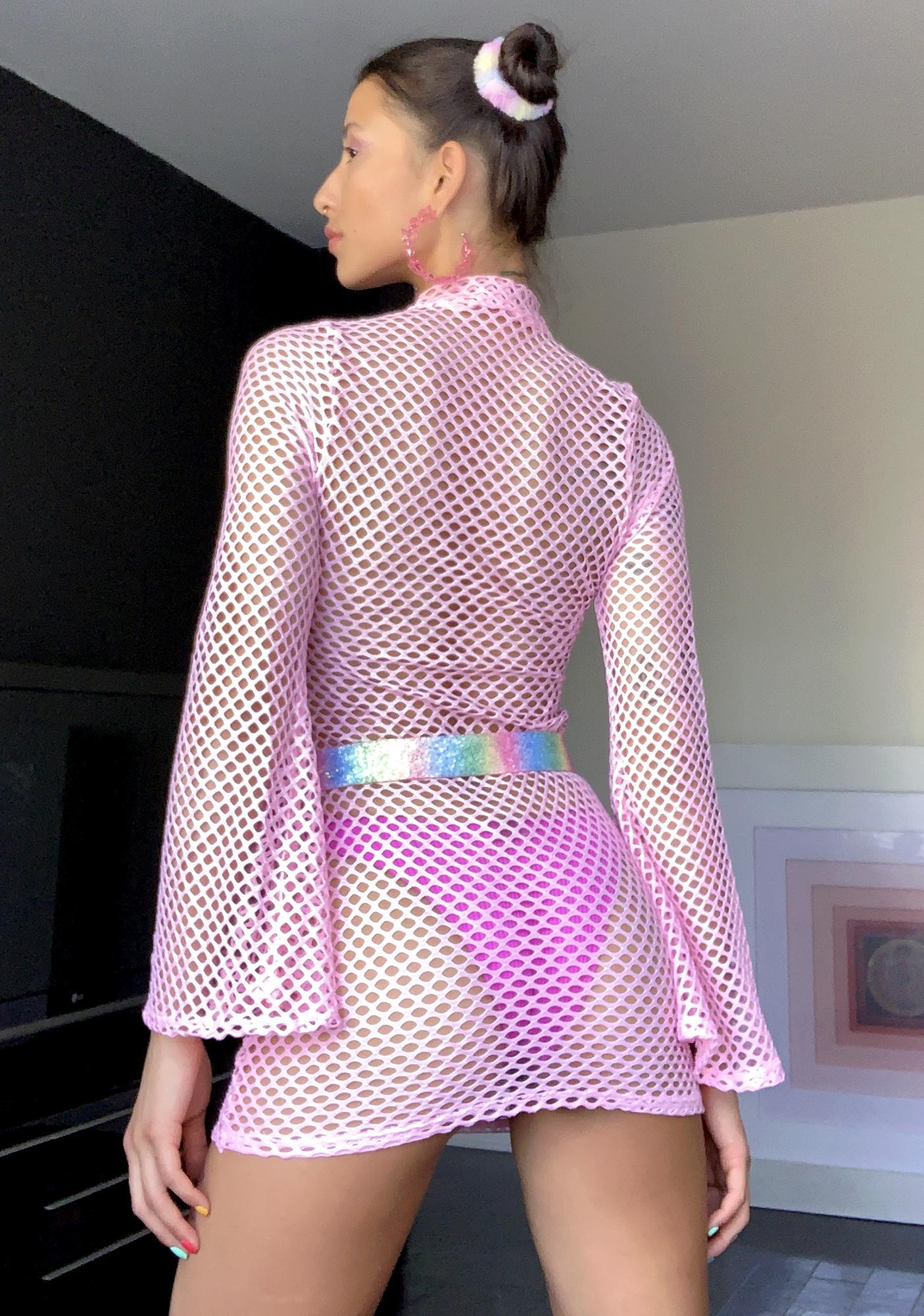 Sugar Thrillz Kandi Utopia Fishnet Dress