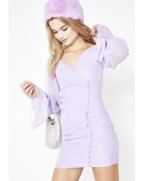 Lilac Always On Ya Mind Mini Dress