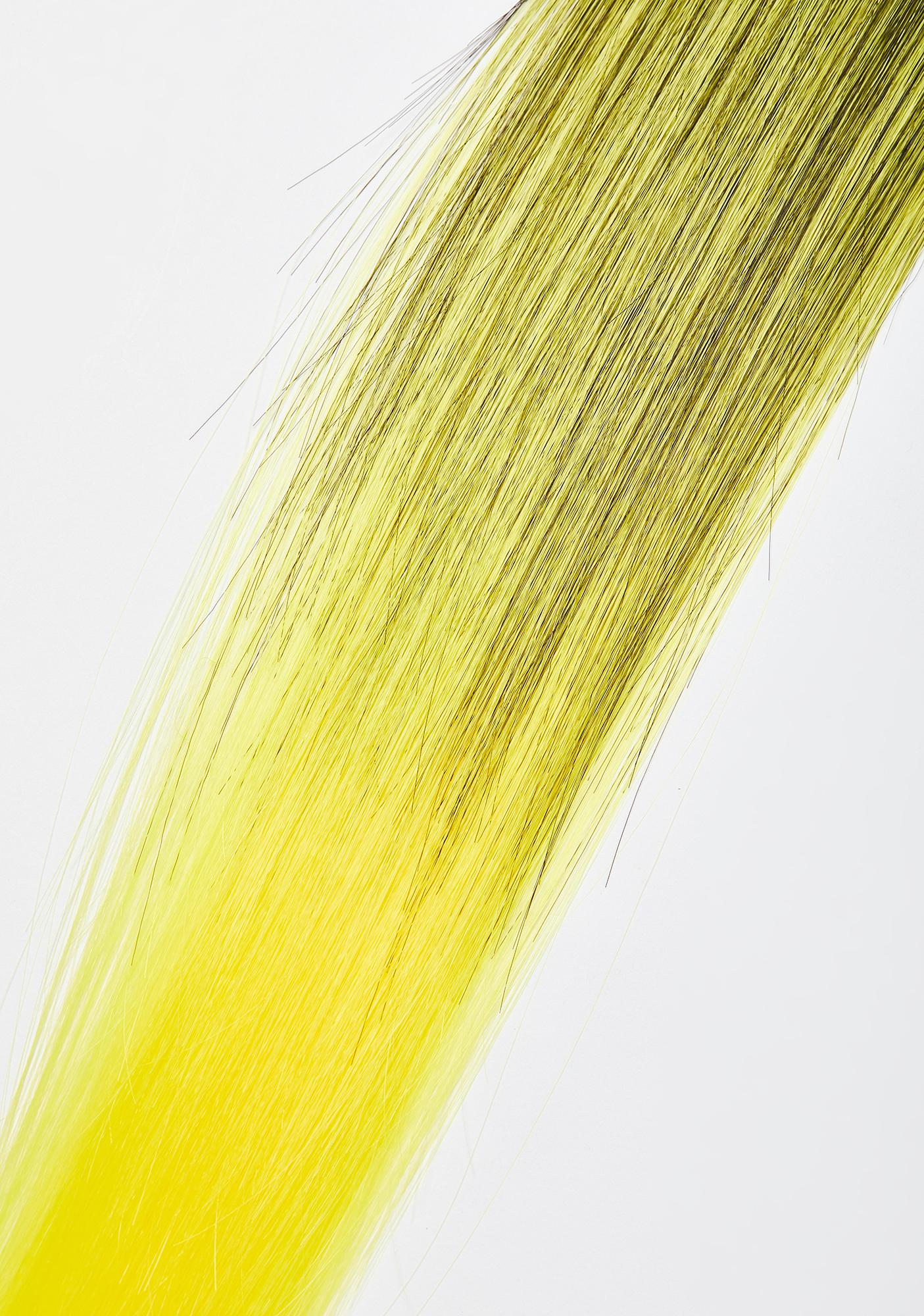 Yellow Ombre Hair Extensions