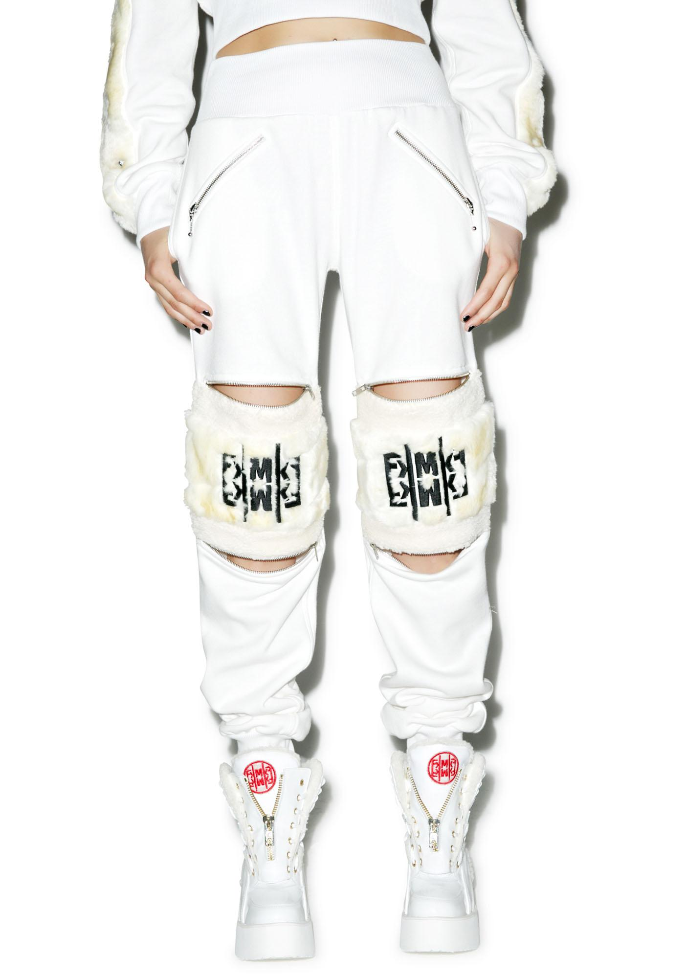 Maria ke Fisherman Fluff N Zip Sweat Pants