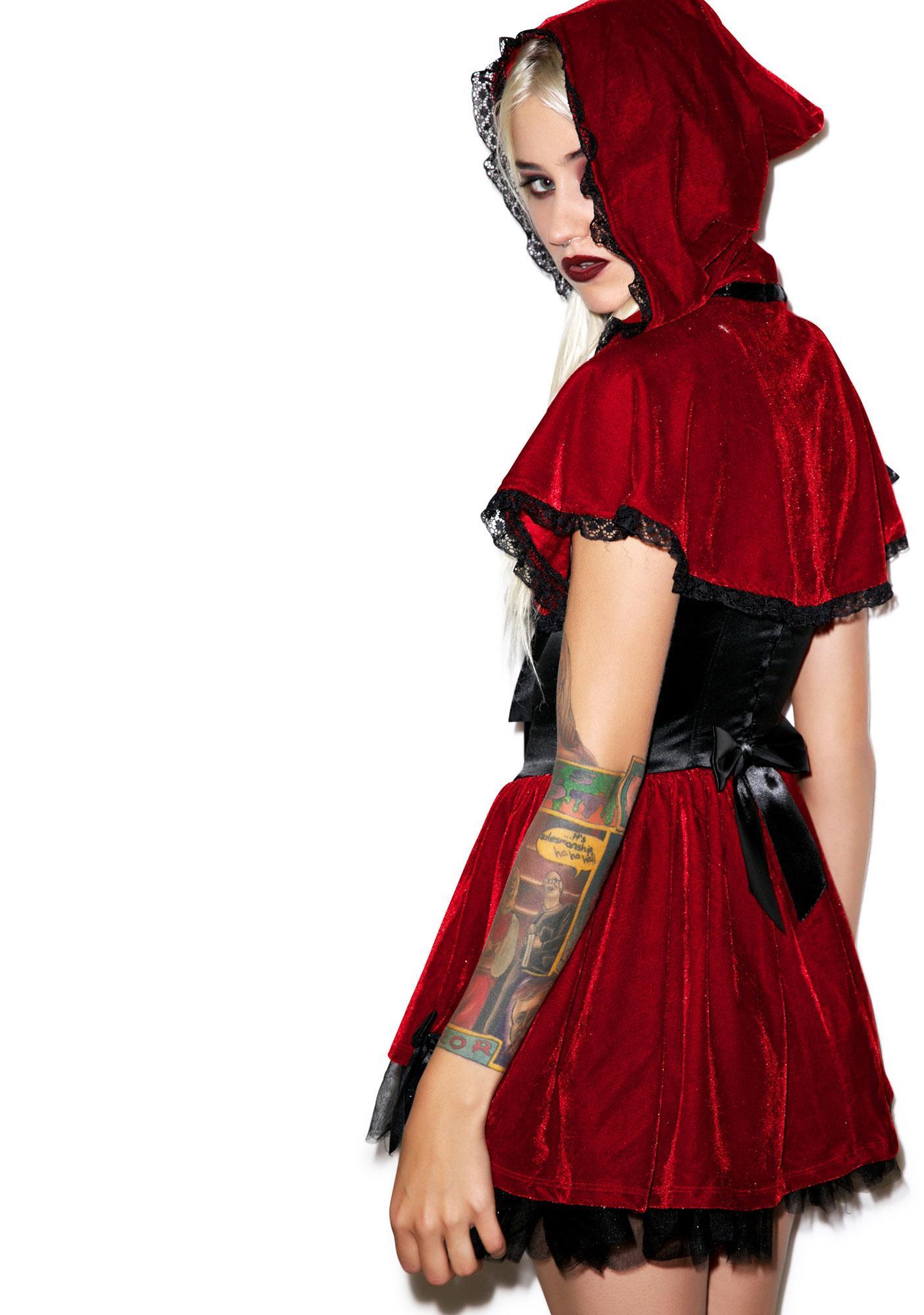Lip Service Red Ridin' Yer Hood Costume