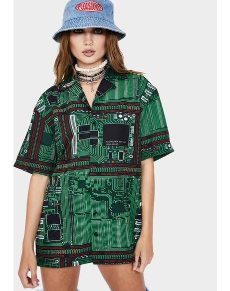 Motherboard Button Up Shirt