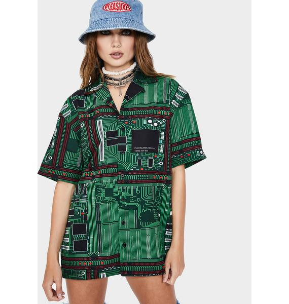 Pleasures Motherboard Button Up Shirt