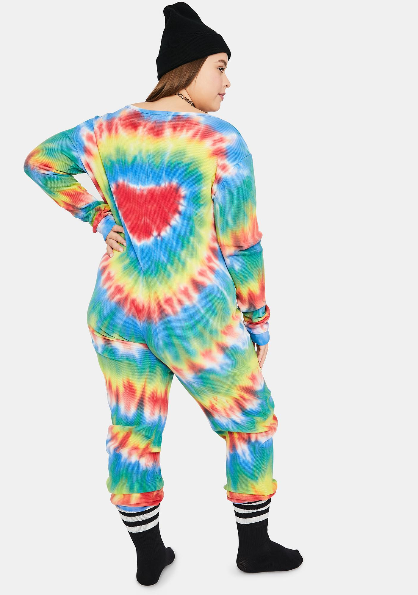 dELiA*s by Dolls Kill Real Chill In The Air Tie Dye Jumper