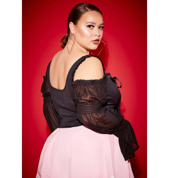 Poster Grl Lil Long List Of Lovers Corset Lace Top