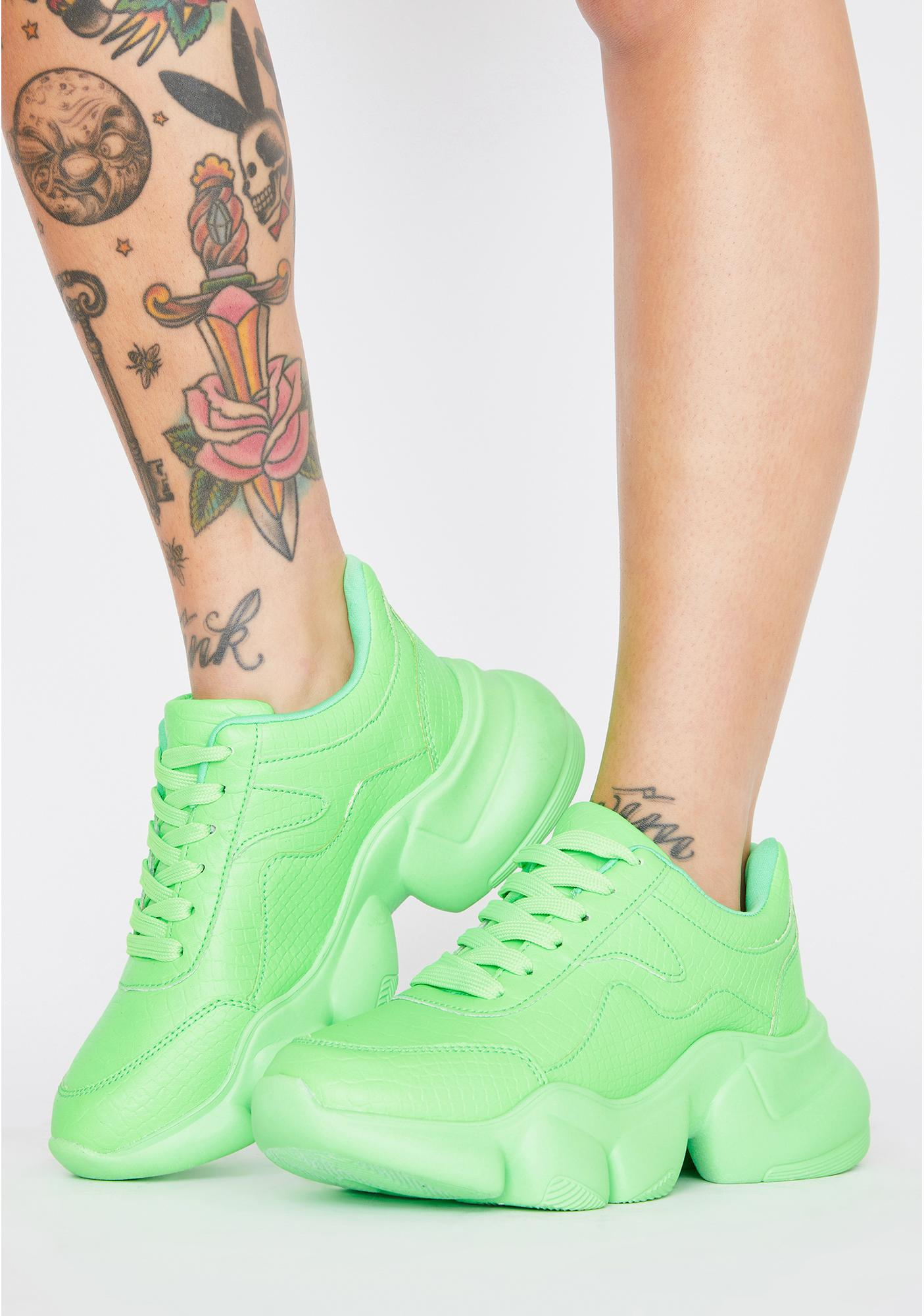 Slime Living Icon Chunky Sneakers