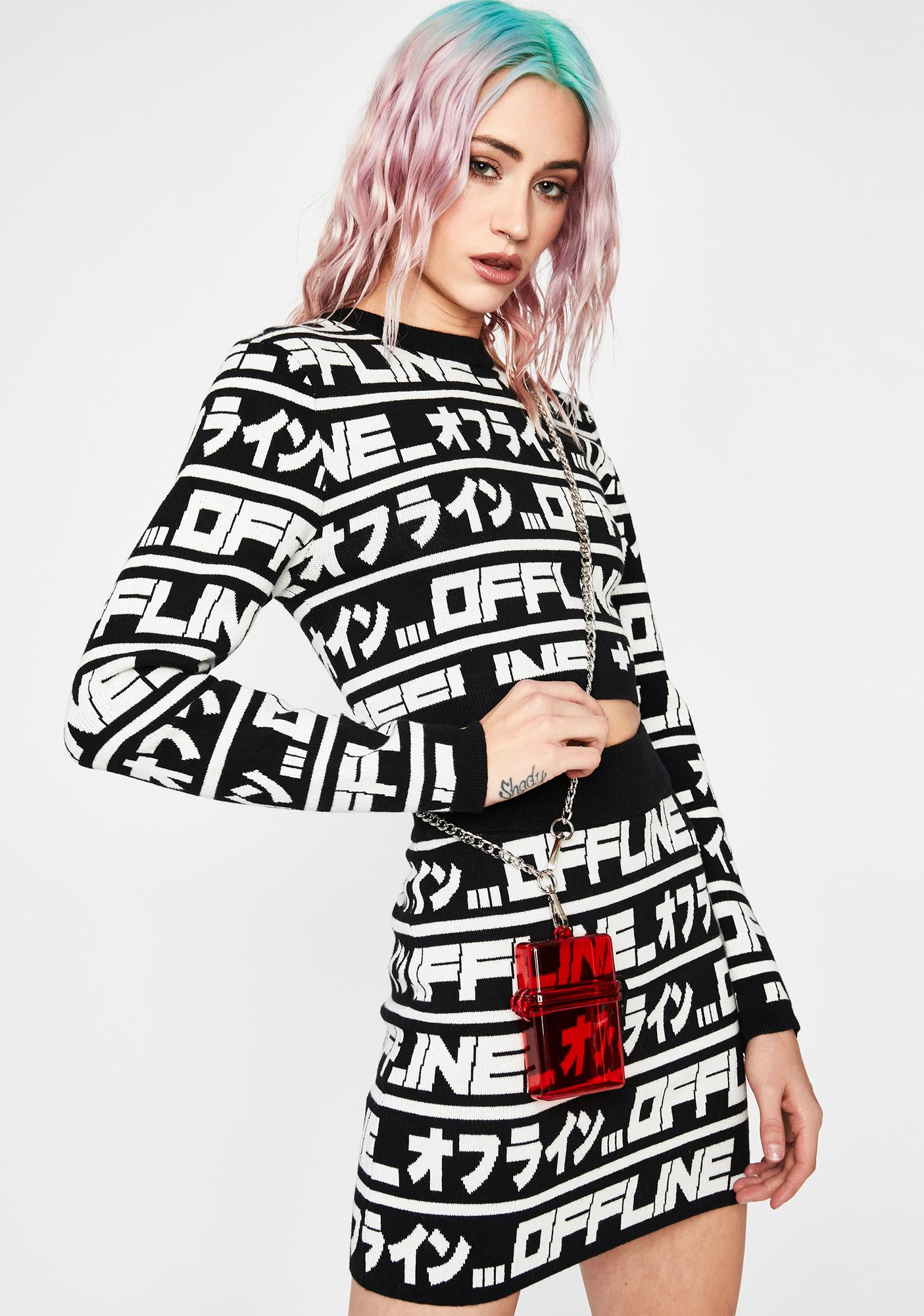 Current Mood Logged Out Crop Sweater