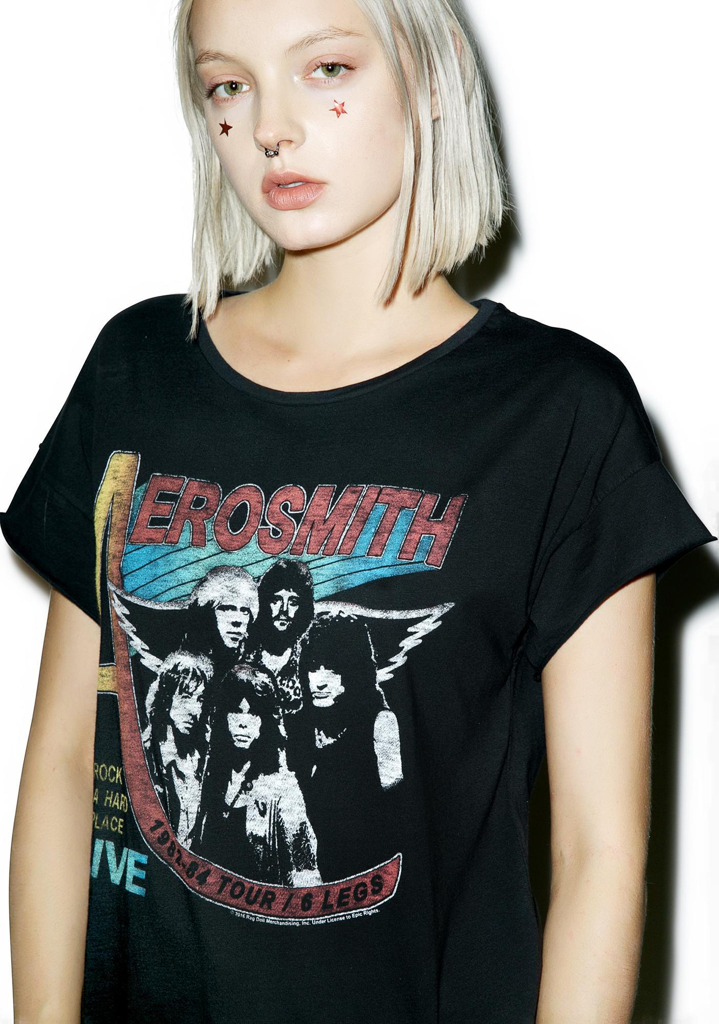 Junk Food Clothing Aerosmith Live Concert Tee