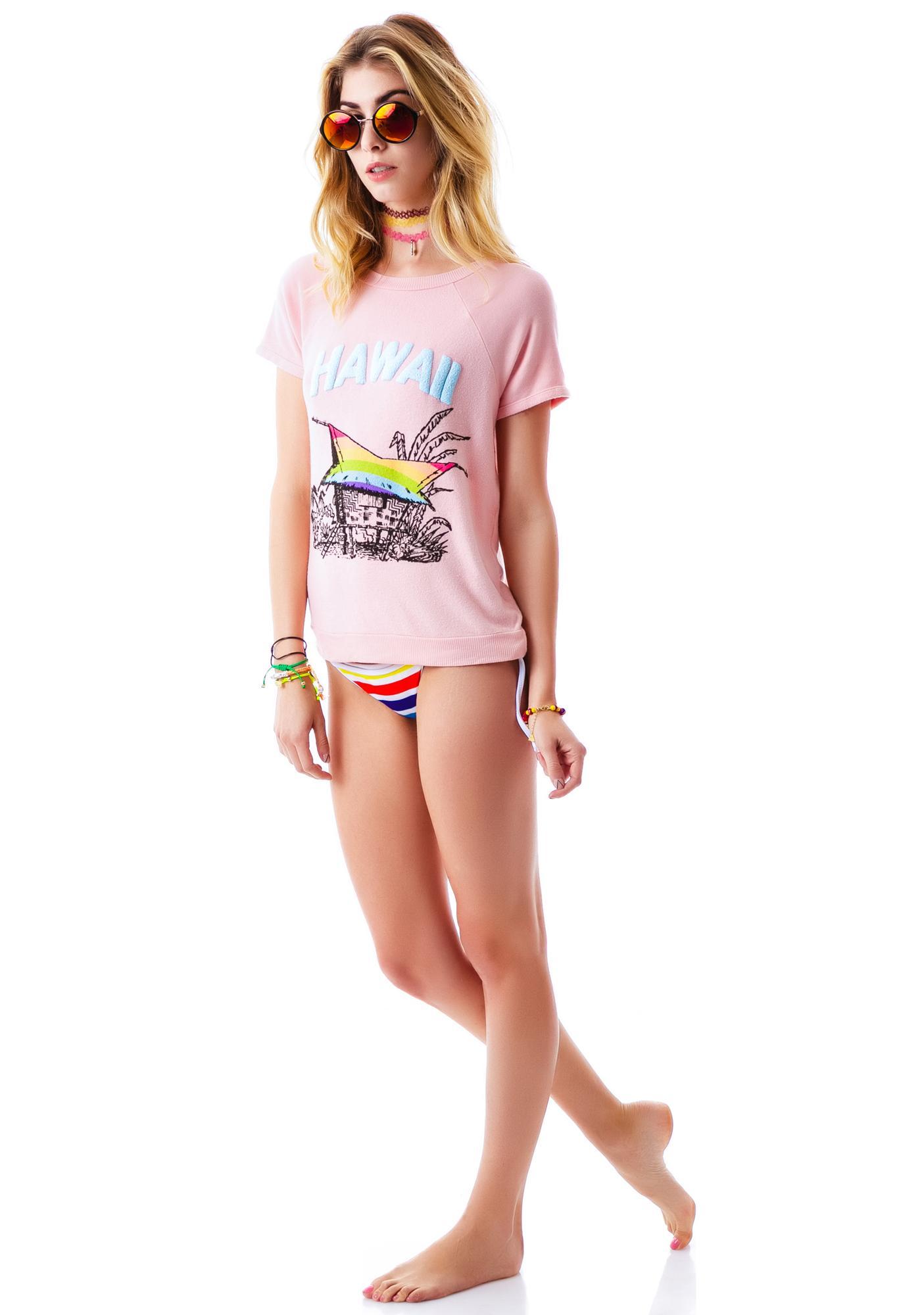 Wildfox Couture Hawaiian Rainbow Camden Top