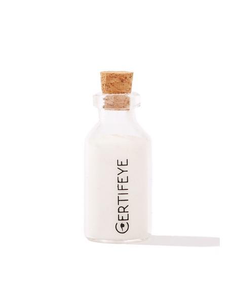 White Mini Glitter Bottle