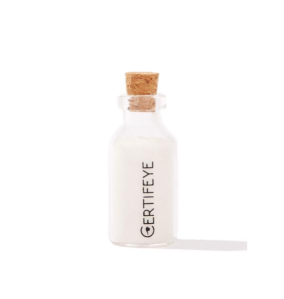 Certifeye White Mini Glitter Bottle