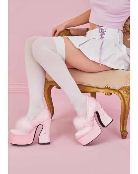 Luxury Taste Marabou Platform Loafers