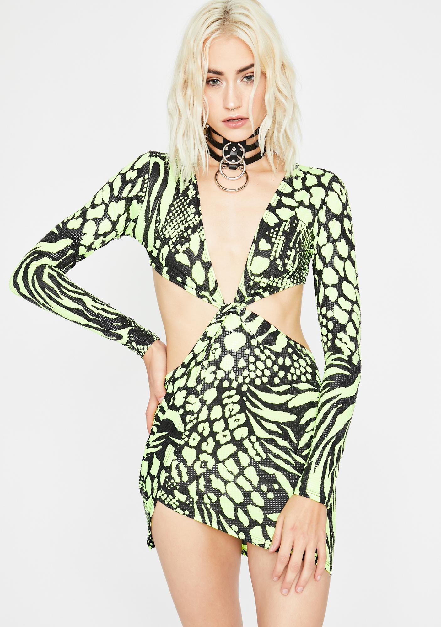 Feral Instincts Cut Out Dress