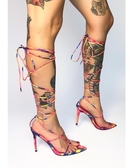 Nappa Lace Up Heels
